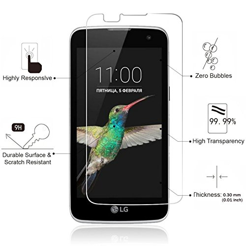 M.G.R – LG K7 [3D Touch Compatible – Tempered Glass] Screen Protector with [9H Hardness] [Premium Crystal Clarity] [Scratch-Resistant]