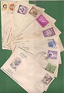 IHC Rare Collection of 1965-68 Indian First Day Covers with Stamps (10 Pieces)