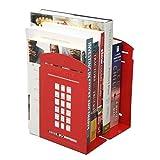 Tobway Plus récente Creative Cabine téléphonique serre-livre Serre-livres étagère, une paire Red