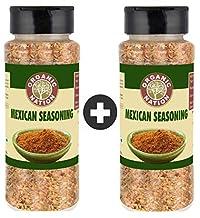 Organic Nation Mexican Seasoning 100% Pure & Natural Pack of 2