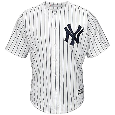Majestic New York Yankees Maillot de baseball Cool Base MLB domicile Blanc Blanc m