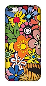 The Racoon Grip printed designer hard back mobile phone case cover for Apple Iphone SE. (Hippie Flo)