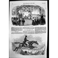 Stampa Antica del Salto delle Scuole del Reparto di Vintry di Natale 26 Ft di Verde 1852 di Kensal