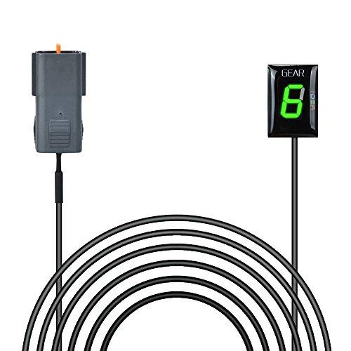 Ganganzeige Motorrad, IDEA Wasserdichte 6 Speed LED Digital Display Schaltanzeige Schalthebel Plug & Play für Z750\1000 (2007-2009)