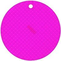 lumanuby Salvamanteles Redondo Silicona Resistente al calor para colgar Salvamanteles Posavasos Bar Home Party boda (18× 18× 0.8cm), color lila