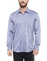 American Crew Men's Solid Shirt With Pocket (Light Blue)