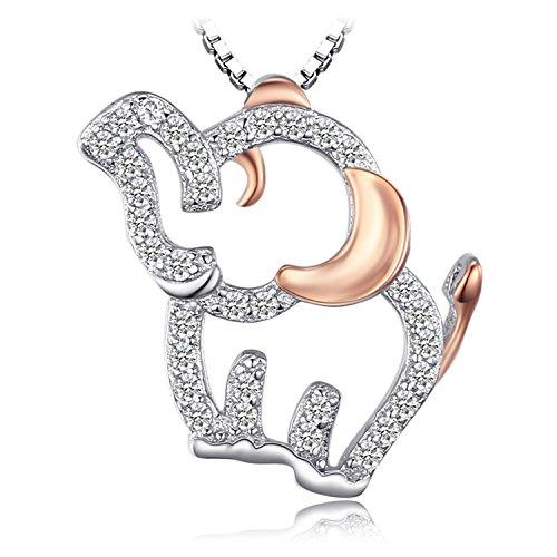 Jewelrypalace Colgante dulce en forma de elefante adornado Circonita en plata de ley 925