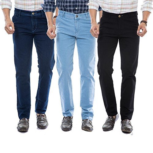 moudlin Slim Fit Streach Jeans Combo for Men by Maruti Online -...