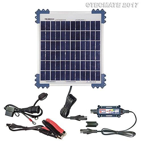 TecMate OptiMATE SOLAR 10W, TM522-1, 6-stufiges batterieschonendes Überwachungssystem Solarladegerät & wartungsgerät für Moto. 12V 0,83A