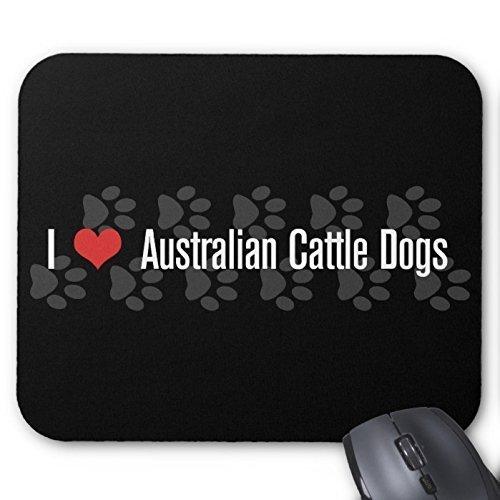 I (Cuore) cani Australian Cattle Mouse Pad Grande Accessori per Ufficio e regalo