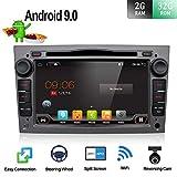 Autoradio Android 9.0 per Opel Vauxhall Antara Astra Zafira Corsa Meriva | Fotocamera posteriore & Canbus GRATUITI | 2 DIN 7 Pollici 2G+32G | Supporta Mirror-link/ volante /4G/WiFi/Bluetooth/DAB+/USB