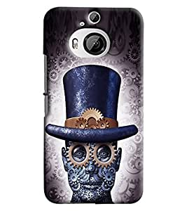Blue Throat Man With Time Printed Designer Back Cover/ Case For HTC One M9 Plus
