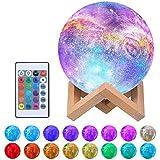 Tomshine Moon Lámpara, 16 colores Impreso en 3D Luz de luna llena 15 cm USB Luz de noche recargable Lámpara de mesa LED Lámpa