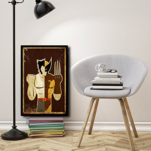"""The Art & wood. Cuadro superhéroe. Poster """"Lobezno"""" Decoración hogar. Decoración infantil."""