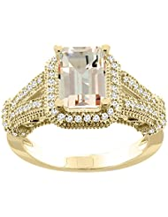 14ct blanco/amarillo/rosa Natural de oro colgantes 8 x 6 mm anillo charreria acento Diamante, Tamaños J - T