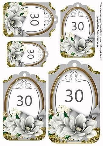 Magnolia 30 Sentiment PLAQUE ARGENT FEUILLE Par Ann Vaux-marie