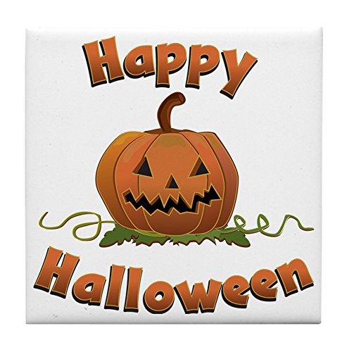 CafePress - Happy Halloween - Fliesenuntersetzer, Untersetzer für Getränke, Kleiner Untersetzer