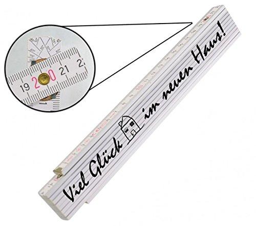 Preisvergleich Produktbild Meterstab - Zollstock - Deutscher Markenhersteller - Top Qualität auch für Handwerker - Länge 2 Meter, , Zollstock:Viel glück im neuen Haus