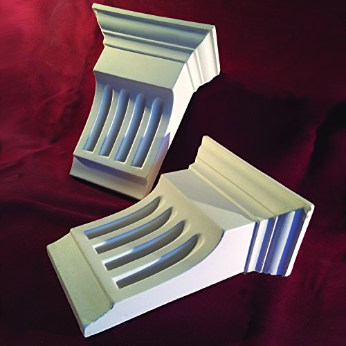 Corbels Fluted Small - Fine Casting Plaster. X2 Handmade In Kent by Cornice Direct -