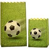 LUMINARIA 8562100 Lichtertüte Luminaria Fußball - 8er Set, Deko Papierhüllen für Teelichte, Zellstoff, Mehrfarbig