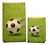 Luminaria 8562100 Lichtertüte Fußball - 8er Set, Deko Papierhüllen für Teelichte, Zellstoff, Mehrfarbig