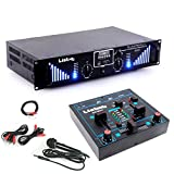 etc-shop PA Erweiterungs Anlage 3000W USB SD MP3 Bluetooth Verstärker Mischpult DJ-Add-On 4