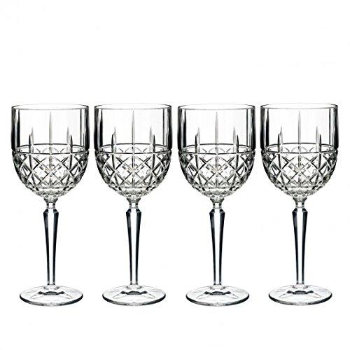 Wein Goblet, Set 4, Brady Kristall Barartikel von Waterford Cut Crystal Goblet