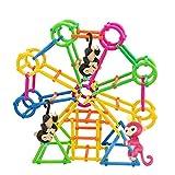 Original Jungle Gym Spielset, Gusspower Tragbare Affenstangen Klettergerüst, Bauen Sie Ihre eigenen Spielplatz erstellen, Gebäude und Steigen Affe DIY Haus, zufällige Farbe (90Pc) für Original Jungle Gym Spielset, Gusspower Tragbare Affenstangen Klettergerüst, Bauen Sie Ihre eigenen Spielplatz erstellen, Gebäude und Steigen Affe DIY Haus, zufällige Farbe (90Pc)