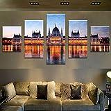 Best Hôtels à Budapest - ZQDMYB Images imprimées Peinture Murale Art Modulaire Affiche Review