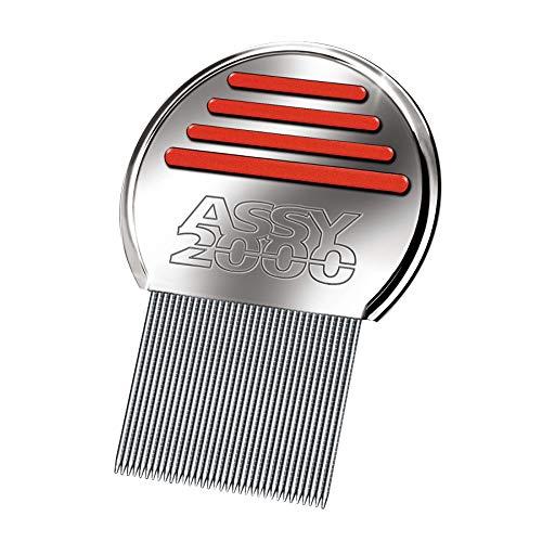 ASSY 2000–Peine antipulgas y antiliendres–en acero templado inoxidable con dientes microacanalados
