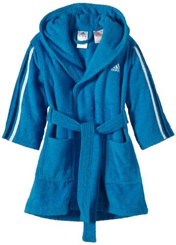 Preisvergleich Produktbild adidas Kinder Bademantel 3-stripes Bathrobe, Solar Blue/White/Night Blue/Blue Beauty, 128, F51242
