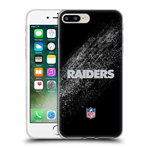 Ufficiale NFL Calcio Oakland Raiders Logo Cover Morbida In Gel Per Apple iPhone 6 / 6s Sfocato