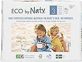 Eco by Naty Premium - Pañales desechables para pieles sensibles, tamaño 3, 4-9 kg, 6 paquetes de...