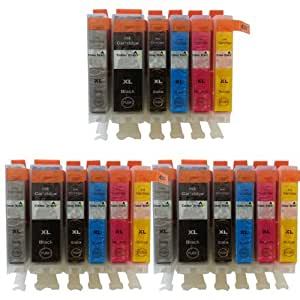 18 Colour Direct Compatible Ink Cartridges Replacement For Canon PGI-525 CLI-526 - Pixma MG6150 MG8150 Include Grey