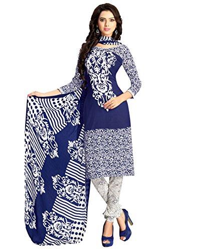 AppleCreation Women's Crepe dress materials for women (Salwar Suit Dress Material PIK107_Blue_Free...