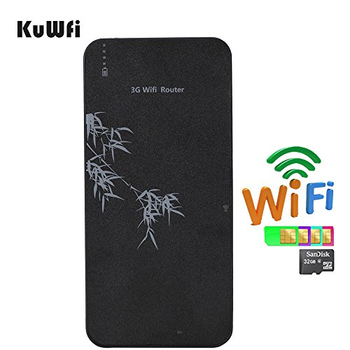 kuwfi WiFi Repeater Bank von Macht 3G WIFI Mobile Router Wifi Hotspot Wireless Router RJ45-mit SIM Card Slot 3g-batterie-bank