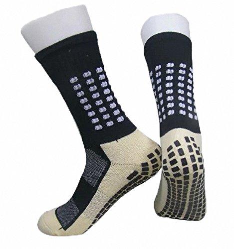 Cushion Crew Socke Arbeit (PreSox Unisex Sport verdicken Cushion Crew Socken mit Gummi Punkte für Baseball / Fußball / Futbol Shinguards)