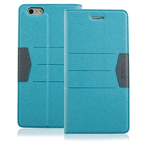 New Style Apple iphone 6s Case cover, Apple iPhone 6s Light Blue Designer Style Wallet Case Cover