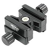 MENGS® DDC-50 Doppel Kamera Klemme aus massivem Aluminium für M6 Kameraschraube - Kompatibel mit AS Standard, wie ARCA-SWISS / KIRK / Wimberley / Markins / BENRO / SIRUI usw Schnellwechsel platten