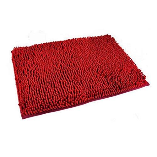 Zonster Lavabile Bagno Nuovo Shaggy Tappeti Non Slip Bagno Spessa stuoia Shag Pile 7 Colori (Rosso)