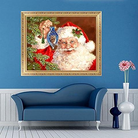 dairyshop 5D Diamant Kreuzstich-Kits mit Santa Claus für Weihnachten Home Decor DIY