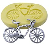 LYNCH 3D Fahrrad geformtes Silikon-Fondant-Schokoladen-Form DIY Kuchen-Dekoration,Rosa