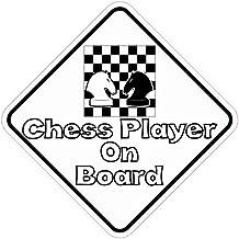 5in x 5en jugador de ajedrez a bordo Adhesivo Vinilo Vehículo Hobby Bumper para por stickertalk®
