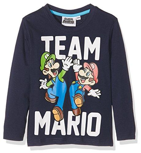 Super Mario Bros Ragazzi Maglietta maniche lunghe - blu marino - 104
