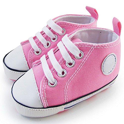 Auntwhale Neue Mode Prewalker Neugeborenes Süßes Segeltuch Sneaker Rutschfeste Soft Cute Schuhe Trainer 3 18M Vier Jahreszeiten -
