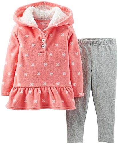 Carter's 2 teilig Gr. 80 Kapuzenpullover + Legging Baby Mädchen Outfit Kleidung Girl US Size 18 Month orange Fleece