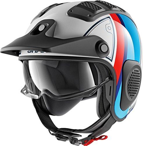 Shark Motorradhelm X-DRAK TERRENCE WBR, Weiss/Blau/Rot, XL