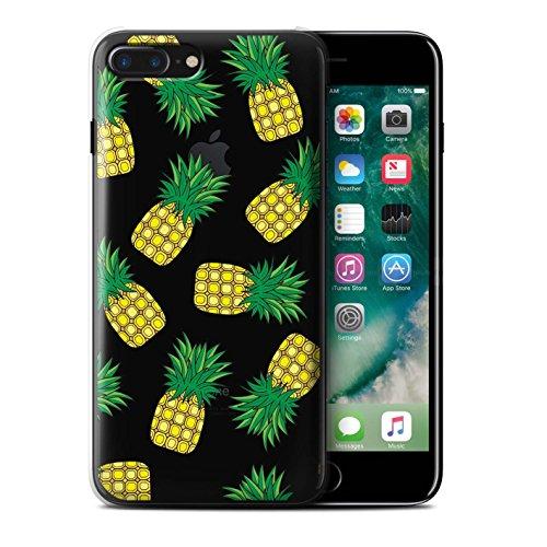 Custodia/Cover/Caso/Cassa Rigide/Prottetiva STUFF4 stampata con il disegno Pezzi di Cibo per Apple iPhone 7 Plus (Finiture In Pelle Caramella)