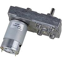 CNBTR 12-Volt-Elektrischer DC-Getriebemotor mit Metallgetriebekasten, Vierkant-Hochdrehmoment-Untersetzungsgetriebe, Silber, VDTAZ012