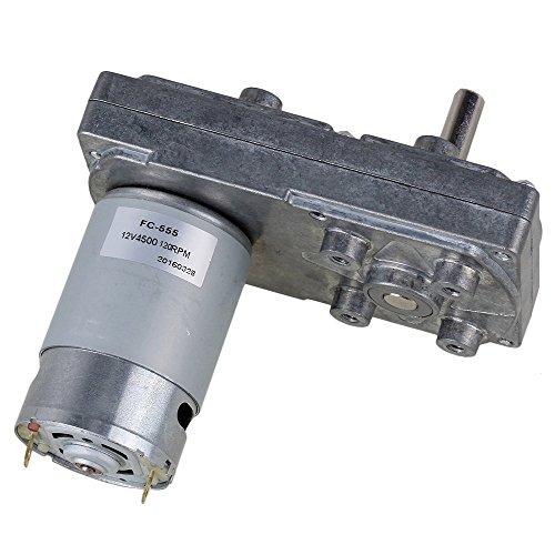 cnbtr quadratisch Hohes Drehmoment Speed reduzieren 12V Elektrische DC Gear Motor mit Metall verzahnte Box, silberfarben, 120RPM - Ändern Motor